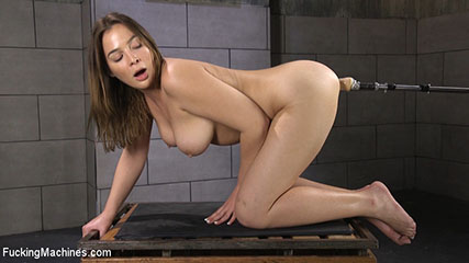 All Natural Girl Next Door Gets Ass Fucked by the Machines
