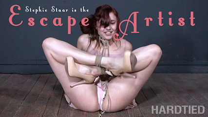 Escape Artist   Stephie Staar is challenged to escape strict rope bondage